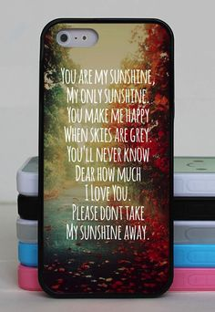 I don't have an iPhone but this little song means so much to me and I love the way it looks on this case