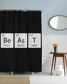 Element Of Beast Science Shower Curtain