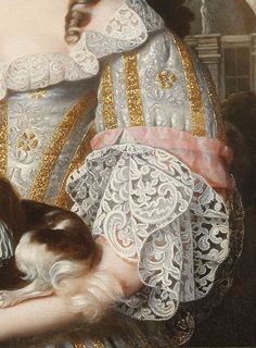 Louise de Keroualle, Duchess of Portsmouth by Henri Gascar, c. 1670 (detail)