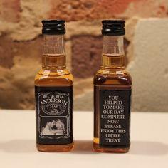 $49.95 100 Custom Jack Daniels Mini Bottle Labels Wedding Favors. such a good   http://coolbathroomdecorideas.blogspot.com
