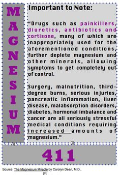 Back to Eden: Magnesium 411: Important to Note