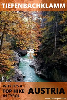 The Tiefenbachklamm trail makes for one of the most beautiful hikes in Austria, especially in autumn.