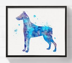 Watercolor Doberman Doberman Art Doberman Print by MiaoMiaoDesign