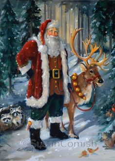 Santa and Forest Friends