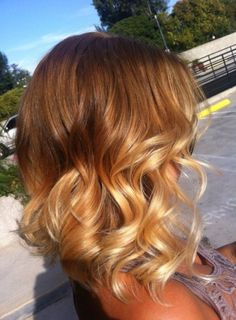 Short Layered Ombre Hair with Curls - Ombre Hair 2015