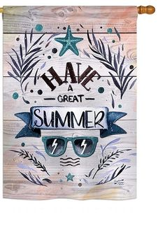 Have a Great Summer House Flag Flags For Sale, Mini Flags, Yard Flags, Outdoor Flags, Flag Decor, House Flags, Wood Slats, Summer Sun, The Incredibles