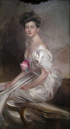 Portrait of Mrs. Whitney Warren, Sr., wife of the famous Gilded Age architect. c. 1908 by Giovanni Boldini (Italian, 1842-1931)