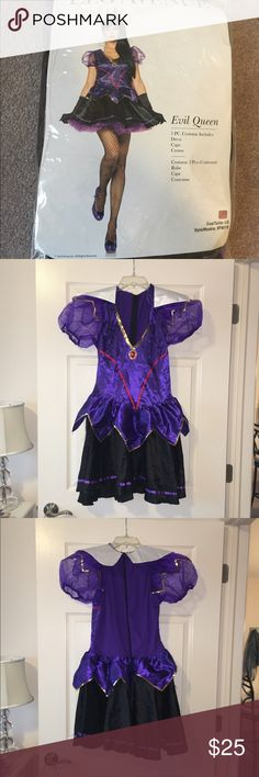 Evil Queen Halloween costume. Comes with dress, crown headpiece and a cape as well. NEVER WORN in excellent condition. Other