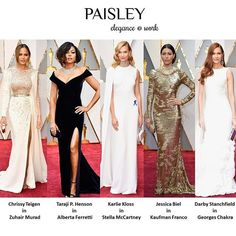 The most beautiful dresses from 89th Academy Awards Oscar 2017 🌟 #oscars #PaisleyTrendReport #oscar #oscars2017 #dresses #redcarpetfashion #redcarpet #fashiondesigner #fashion #celebrityfashion #celebrities #celebstyle #academyawards #actress #star #beauty #hautecouture #gown #love #luxury #hair #makeup #ootd #zuhairmurad #albertaferretti  #stellamccartney #kaufmanfranco #georgeschakra #dress #instafashion