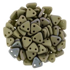 371-06-M15768 CzechMates Triangle 6mm : Matte - Oxidized Bronze Clay
