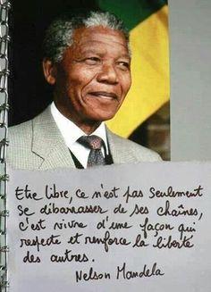 .nelson mandela-citation-être libre- free !! #quotes, #citations, #pixword,