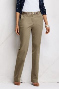 Women's+Pre-hemmed+Heritage+Straight+Leg+Chino+Pants+from+Lands'+End