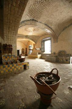 cocina del ex-conventa de Santa Rosa, en Puebla