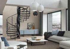 JAP Tango - točité interiérové schodiště v kombinaci dřevo, nerez, s masívním centrálním sloupem#schody#schodiště#stairsdesign#modernarchitecture#design#house#interiordesign#bydlení