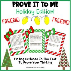 Prove It To Me Christmas Holiday Writing Activity