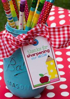 You cant go wrong with chocolate and dont miss this cute card perfect for a teacher appreciation gifts grab a box of pencils and a gift tag negle Choice Image