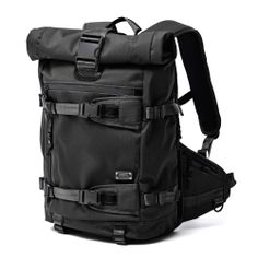 AS2OV (アッソブ) CORDURA DOBBY 305D ROLL BACK PACK BLACK / バックパック Backpack Travel Bag, Rucksack Backpack, Travel Bags, Japanese Backpack, Unique Backpacks, Back Bag, Handbags For Men, Black Leather Backpack, School Bags