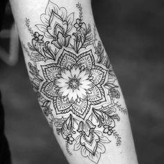 Tattoos For Kids, Trendy Tattoos, New Tattoos, Print Tattoos, Tattoos For Women, Arrow Tattoos, Dotwork Tattoo Mandala, Mandala Tattoo Sleeve, Sleeve Tattoos