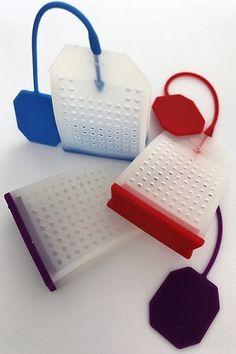 3 theezakjes gemaakt van levensmiddel veilige siliconen. Leuk om te zien en handig in gebruik. `perfect voor losse thee, maar ook groot genoeg voor een theezakje zonder koortje. Groot, Om, Bluetooth