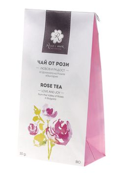 Rosey's mark Rose Tea - paper bag with multiple closing | Design: Anna Nikolova