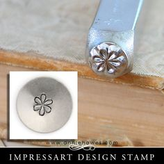 """Impressart Metal Stamp - Large Flower Design Shape SIZE: 6mm (1/4"""") This punch is suitable on softer metals, such as nickel silver, copper, brass, aluminum, and pewter, as well as leather, polymer cla"""
