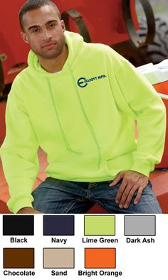 Bayside Hooded Embroidered Fleece Made In The USA $38.79