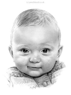 Portrait of a Baby Drawing