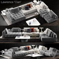Minotti Lawrence Clan Sofa - : furniture and decor Living Room Sofa Design, Living Room Interior, Home Living Room, Living Room Designs, Living Room Decor, Bedroom Decor, Wall Decor, Furniture Styles, Sofa Furniture