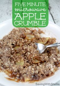 RECIPE: Microwave Apple Crumble | Saving with Shellie™