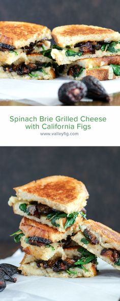 We can always go for Brie Grilled Cheese. You'll love how adding in this melty cheese with sweet California Figs makes this spinach grilled cheese so good! #figs #californiafigs #recipe #cooking #recipes #briegrilledcheese #spinachgrilledcheese