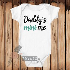 Daddy's Mini Me Bodysuit-Toddler Shirt Baby Shower Gift by Tovars