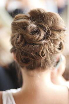 #hairstyles  Photography by bschwartzphotography.com    Read more - http://www.stylemepretty.com/2012/10/25/santa-cruz-beach-wedding-from-b-schwartz-photography/