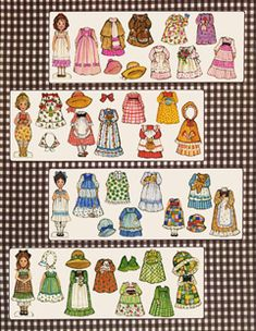Link to print out the '70's THE GINGHAMS paper-dolls for FREE.
