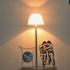 lampe silhouette de cheval en fer forg avec clairage par un ruban led de 90 cm led et. Black Bedroom Furniture Sets. Home Design Ideas