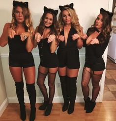 Try these DIY Group Halloween Costumes for your Halloween party. These DIY Halloween Costumes are easy to make and perfect for your gang in college or work Halloween Costumes For Girls, Costumes For Women, Halloween Ideas, Zombie Costumes, Halloween Couples, Homemade Halloween, Family Halloween, Halloween Halloween, Vintage Halloween