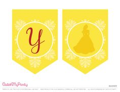 Free Beauty and the Beast Printables   Happy Birthday Banner | CatchMyParty.com