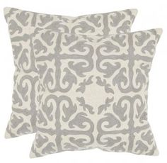 Avia Embroidered Pillows - Set of 2