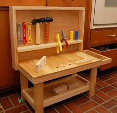kids wood toolbench diy