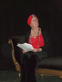 Enid reading Gertrude in Hamlet January 2010