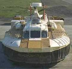 A hovercraft is a vehicle supported on a cushion of air supplied by a powered fan mounted on the craft.