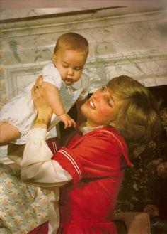 Diana & William, Christmas 1982 at Kensington Palace