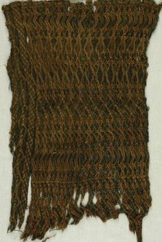 Brooklyn Museum: Egyptian, Classical, Ancient Near Eastern Art: Textile   wool, accession no. 85.165.1, the most beautifully wrought example of Coptic språng work I've seen