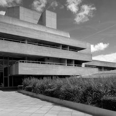 The National Theatre in London opened 1976, designed by Sir Denys Lasdun