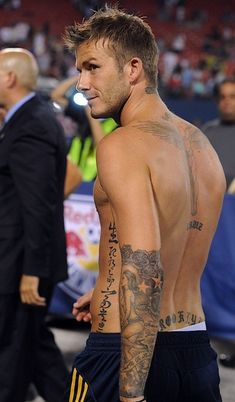 #David #Beckham Tattoo for Half Sleeve
