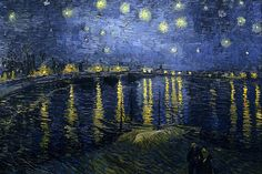 Vincent van Gogh: Starry Night over the Rhone (1888)
