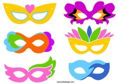 Diy Mask, Diy Face Mask, Barbie Paris, Diy Paper, Paper Crafts, Fancy Dress Masks, Printable Masks, Carnival Masks, Ideas Para Fiestas