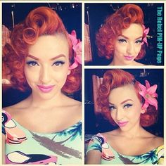 Pinup doll Ashley Marie - love her style!! Her youtube tutorials are awesome