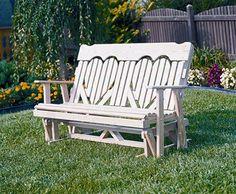 Amish 2 & 4' Highback Heart Pinewood Bench