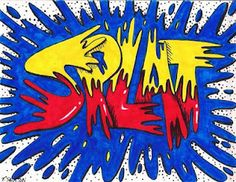 The Lost Sock Onomatopoeia art for a comic style lesson plan! Pop art with Roy Lichtenstein.