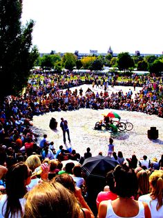 Mauerpark is a huge park that fills up on Sundays. There are literally thousands of people.